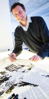 Jimi Holstebro underviser i visuel facilitering