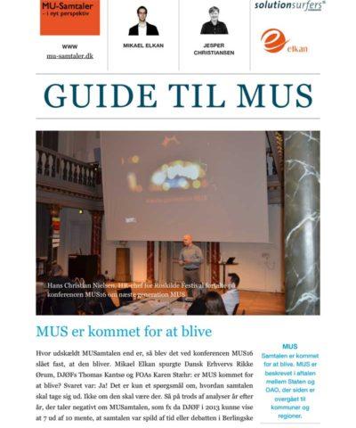 Guide til MUS - medarbejderudviklingssamtaler 2017
