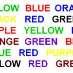 Test genkendelse af ord og farver